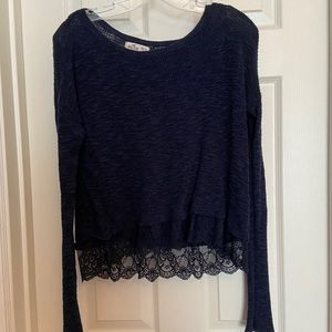 Hollister Knit Long Sleeve Top Size Small